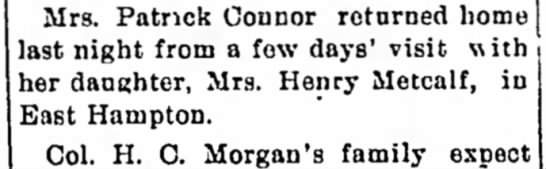 mrs Patrick connor - in years. have during plans laud ast night from...