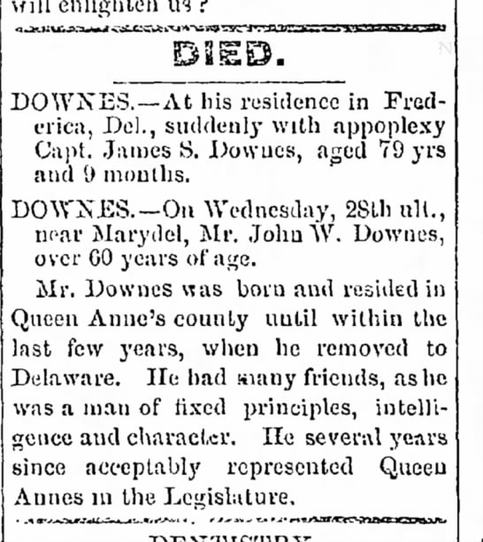 Downes death