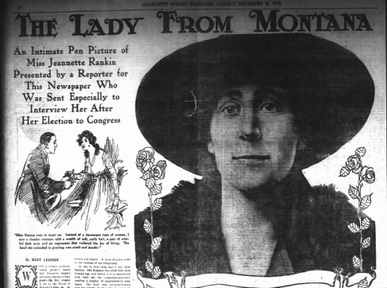 Interview with Jeannette Rankin after she won her first seat seat in Congress - An Intimate Pen Picture or Miss Jeannette...
