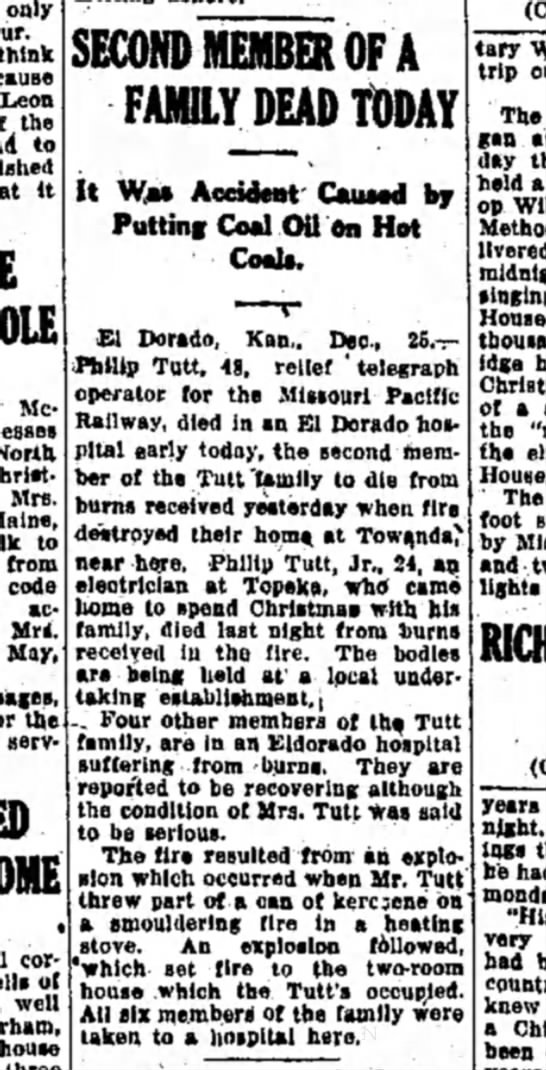 Hutchinson News - Hutchinson, KS 25 Dec 1923 - only think Leon the to it POLE SECOND MEMBER OF...