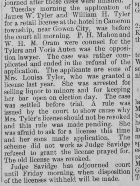 30 Jan 1895  The Daily News of Mount Carmel, PA - iourned after these cases were ruesuay uioiuihk...