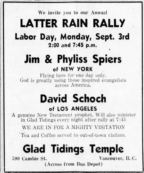 Schoch and Spiers - Latter Rain rally with Layzell ... 1951