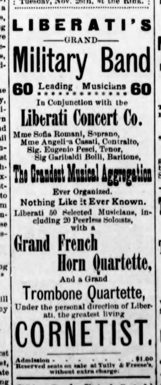 Liberati's Horn Quartette - a , Rosen- to yts- rcy S LIBER ATI'S GRAND...