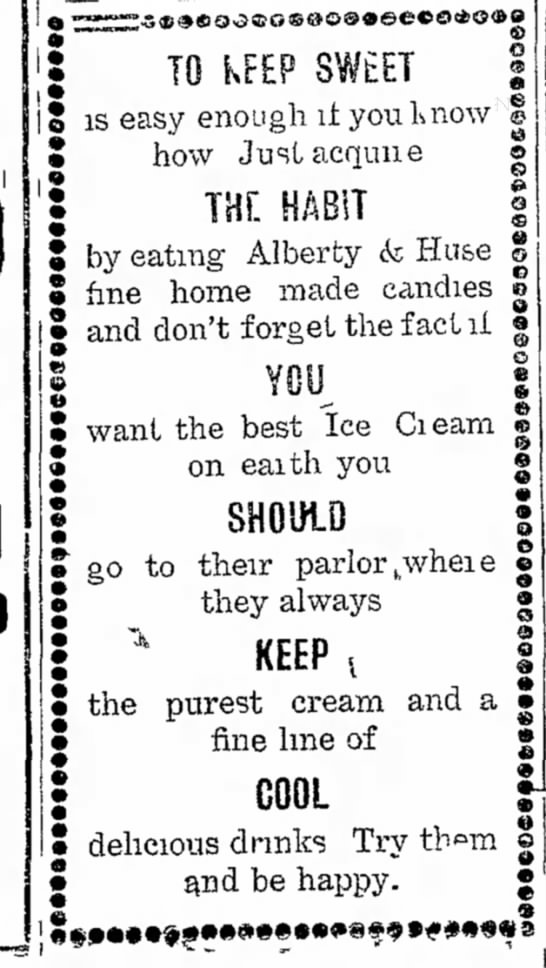 Alberty & Alberty & HuseHuseJul 8, 1907 - TO KFEP SWtET is easy enough it you L how...