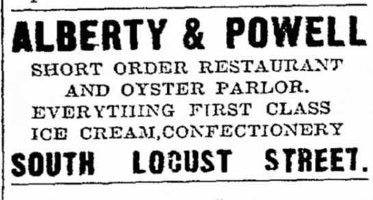 Alberty & Powell Candy StoreDec 27, 1907Chillicothe, Missouri - ALBERTY POWELL SHORT ORDER RESTATJKANT AND...