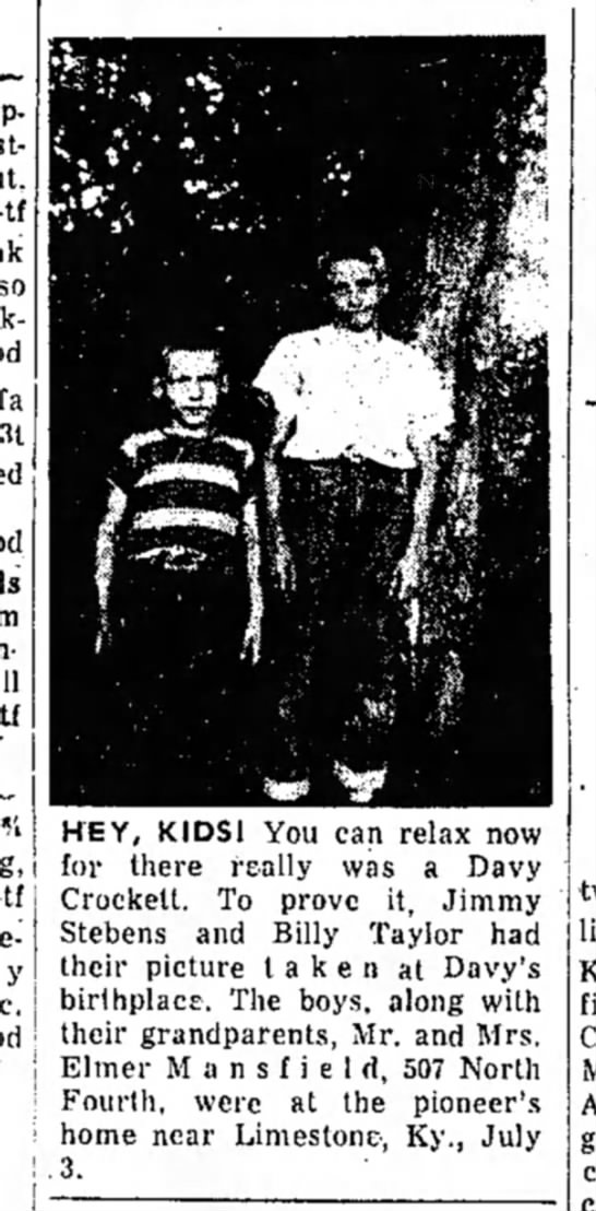Jimmy and Billy July 1955  - HEY, KIDS! You can relax now for there really...