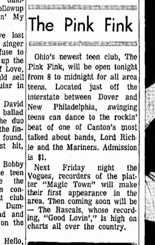 Dover Weekend Daily Reporter April 9 1966 DONE - followup My lost singer to up the Love, sell in...