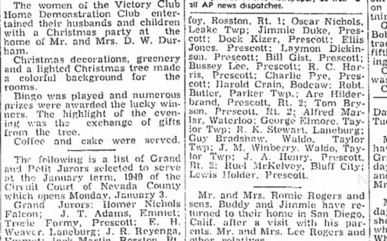 Winberry HS 1 Jan 1949p3 - The women or the Victory Club Home...