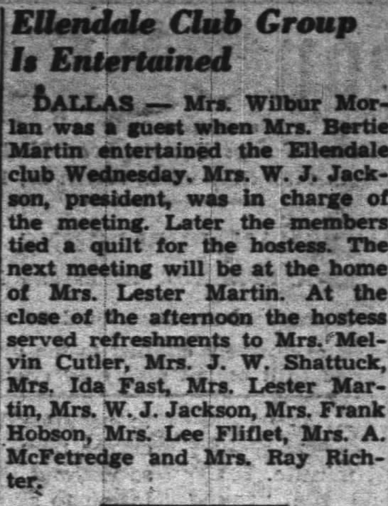 The Oregon Statesman, 18 Jan 1944 - EUcridcls Club Group Is Entertained DALLAS -...
