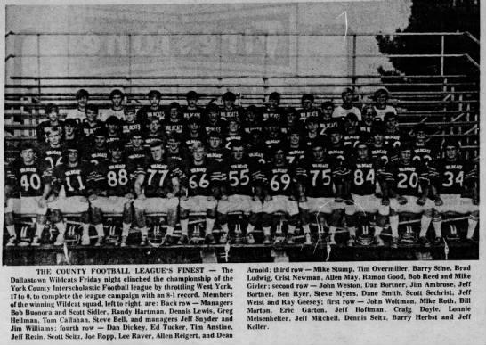 Dan Bortner and Jeff Bortner Dallastown Wildcats Football Champs - . . . V V 'iA.Jll I llll ! Nil II t - . ,f...