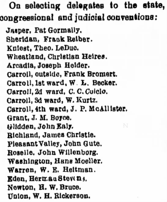 Ealy, John_26 Jul 1894 - On selecting delegates to the state,...