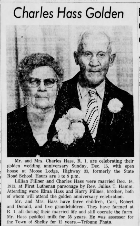 50th Anv - Charles Hass - Lillian Fillner