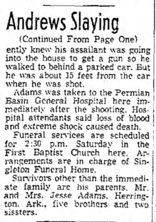 P 10, June 14 1952 second half of article - Andrews Slaying (Continued From Page One) ently...