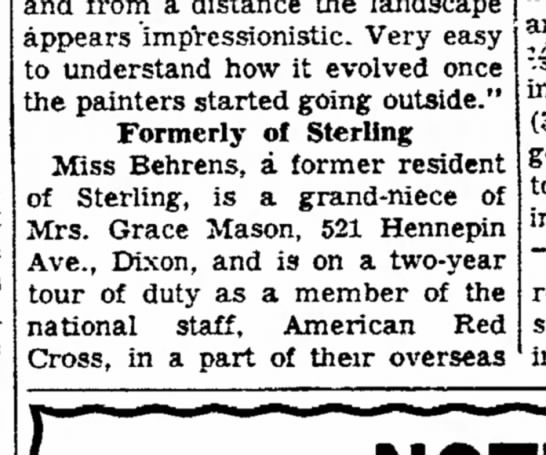 Mrs. Grace Mason lived here in 1955 - a appears impressionistic. Very easy to...