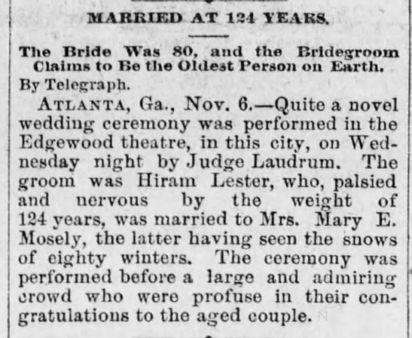 Married at 124 Years