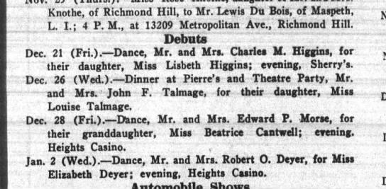 bkn life nov 3 1923 p5 lisbeth - Knothe, of Richmond Hill, to Mr. Lewis Du Bois,...