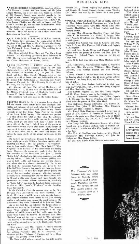 bkn life may 28 1927 p11 cesar - BROOKLYN LIFE MISS DOROTHEA AGNES HULL,...