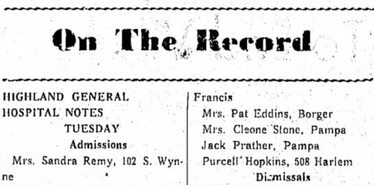Pat 4 Oct 1941 - On The KtMrord HIGHLAND GENERAL HOSPITAL NOTES...