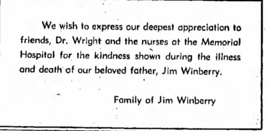 Winberry HS 3 Apr 1957 p3 - We wish \o express our deepest appreciation to...