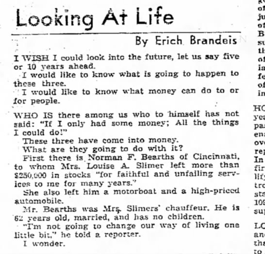 - Looking At Life By Erich Brandeis I WISH I...