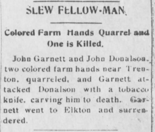 John Garnett - I I I e aSLEY FLLLO V MAN Colored Farm Hands...