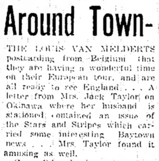 "Baytown Sun - ""Around Town""