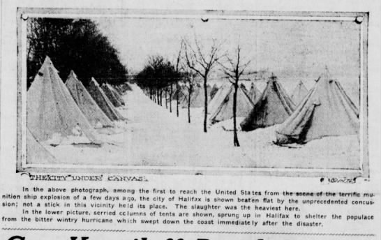 Temporary shelter for victims of Halifax disaster - fcXWV'.AuS 0 cV*! ph®t0fl/aphJ am0n9 the first...