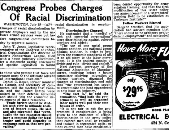 - Congress Probes Charges Of Racial...