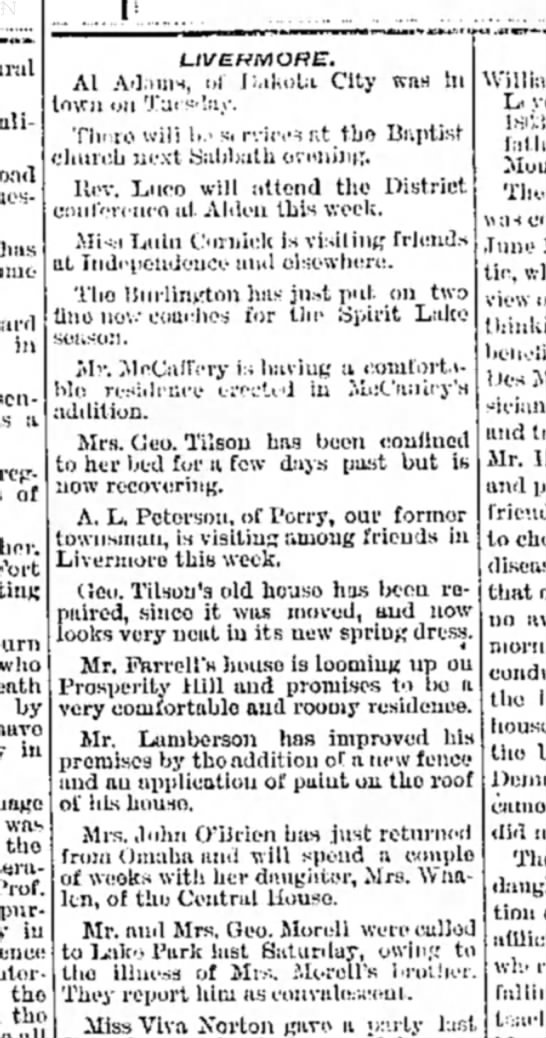 Humboldt Republican 11 May 1891 - has in :v rcjr- of who by have in was tho Prof....