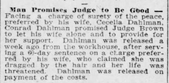 24 jan 1909 - Man Promise Judge to Be Good Facing a charge of...