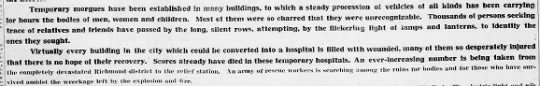Temorary morgues and hosiptals set up for Halifax - Temporary morgues have been established in many...
