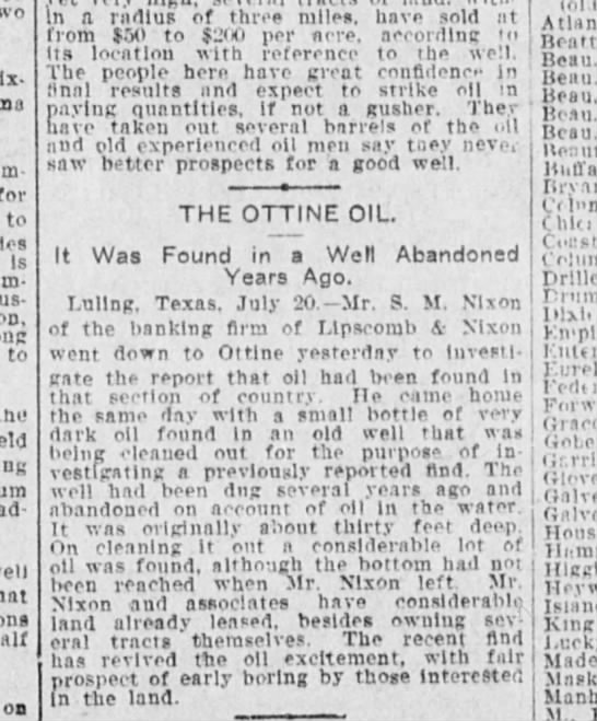 Ottine Oil - for to Is ta to thi ad half on Island King...