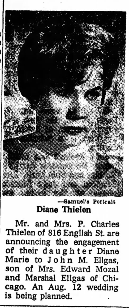 Diane Thielen - Uncle Chuck's Daughter - Circa June 1961
