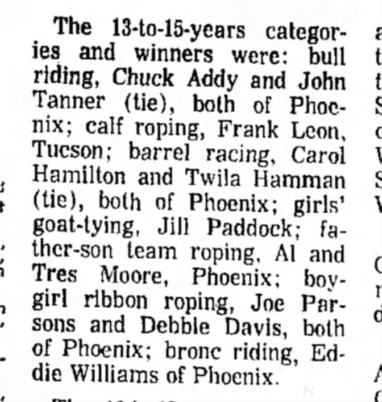 Addy Chuck 26 Jan 1970 p54 AZ Republic