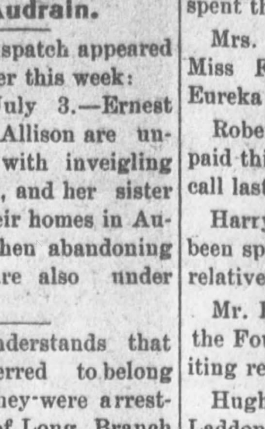Mexico Missouri Message Mexico, Missouri Thursday, July 9, 1903 - Page 5 - Audrain. dispatch appeared this week: July 3....