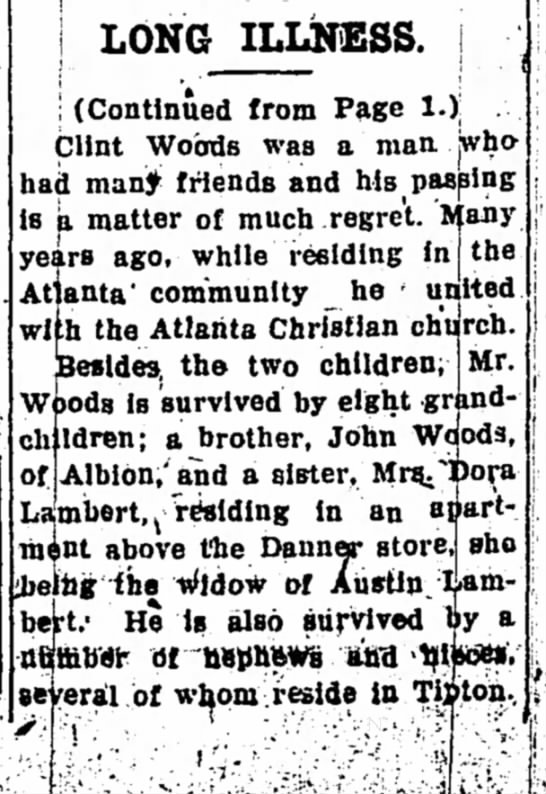 Tipton Tribune, Jan. 31, 1939 pg 5 - 1 LONG ILLNESS. ; (Continued from Page 1.)...