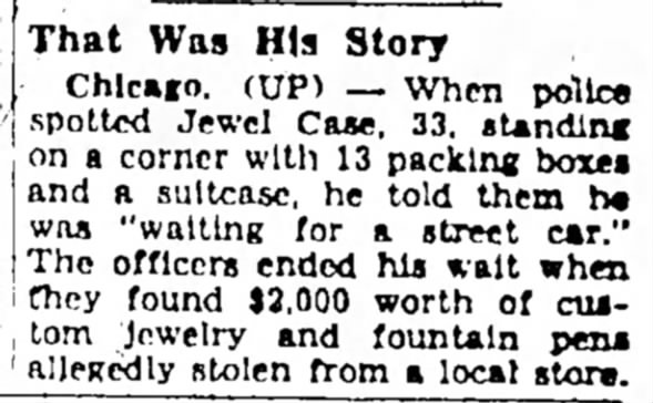 Robber's story: he was