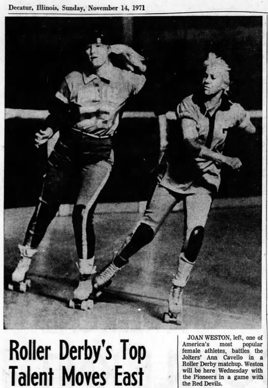 Roller Derby. 1971 - Decatur, Illinois, Sunday, November 14, 1971...
