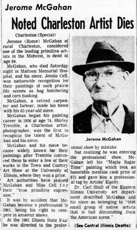 - Jerome McGahan Noted Charleston Artist Dies...