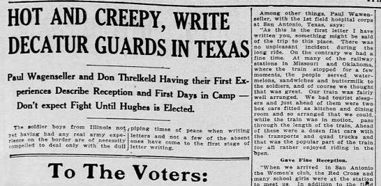 paul wagenseller in guard - HOT AND CREEPY, WRITE DECATUR GUARDS IN TEXAS...