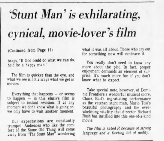 Stunt_Man_is_exhilarating,_cynical,_movie-lovers_film___Contd - 'Stunt Man ' is exhilarating, cynical,...