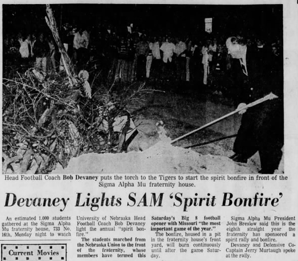 1970.10.05 Missouri week bonfire