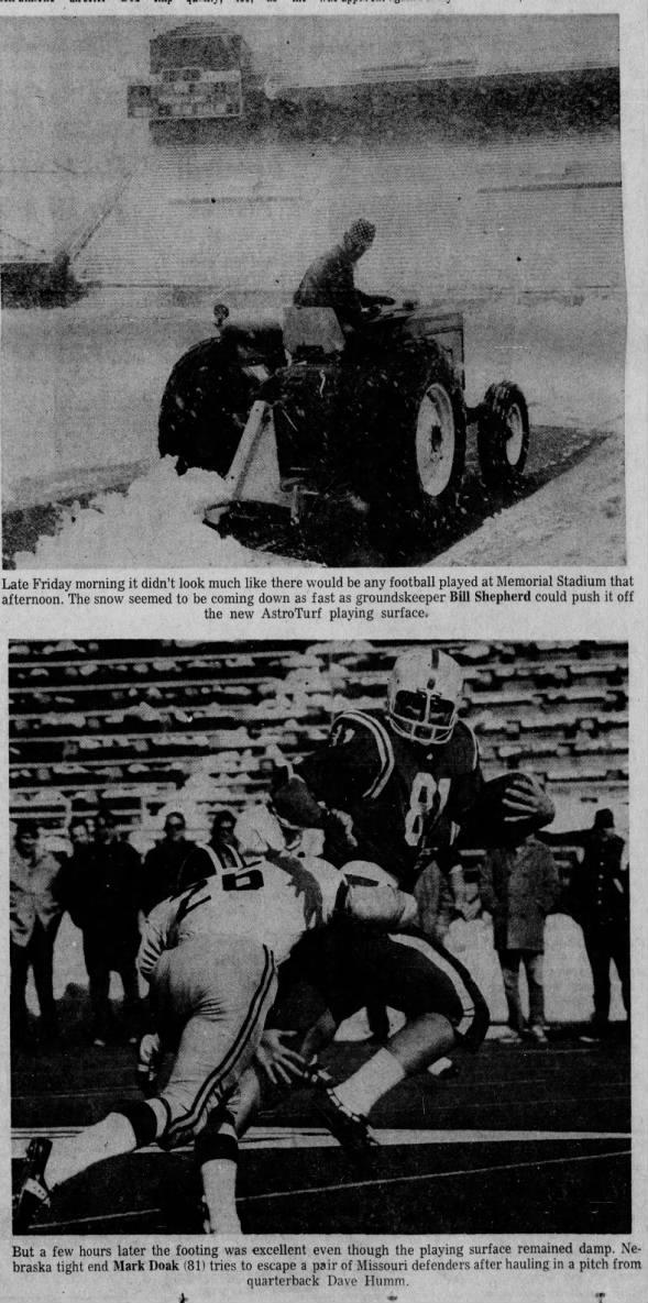 1970.10.09 Nebraska-Missouri, snow day before