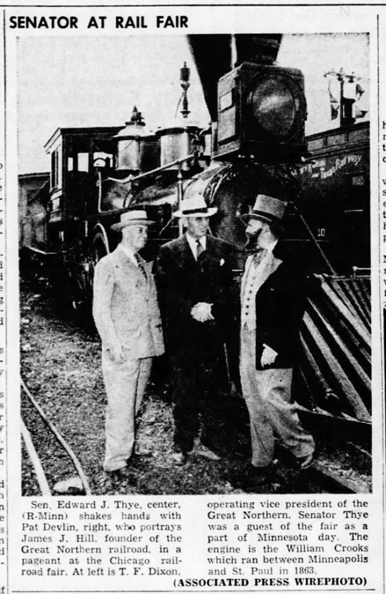 Senator At Rail Fair - j I SENATOR AT RAIL FAIR l y mi Yc-v Yc-v Yc-v...