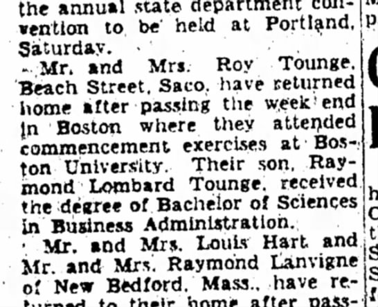 TOUNGE Roy - the annual state department ·entlon to be'...