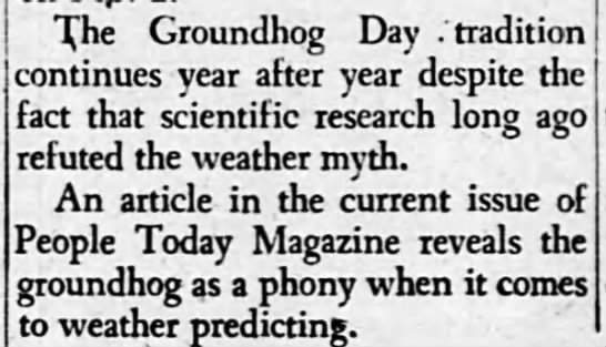 "groundhog is a phony - The Groundhog Day .""tradition continues year..."