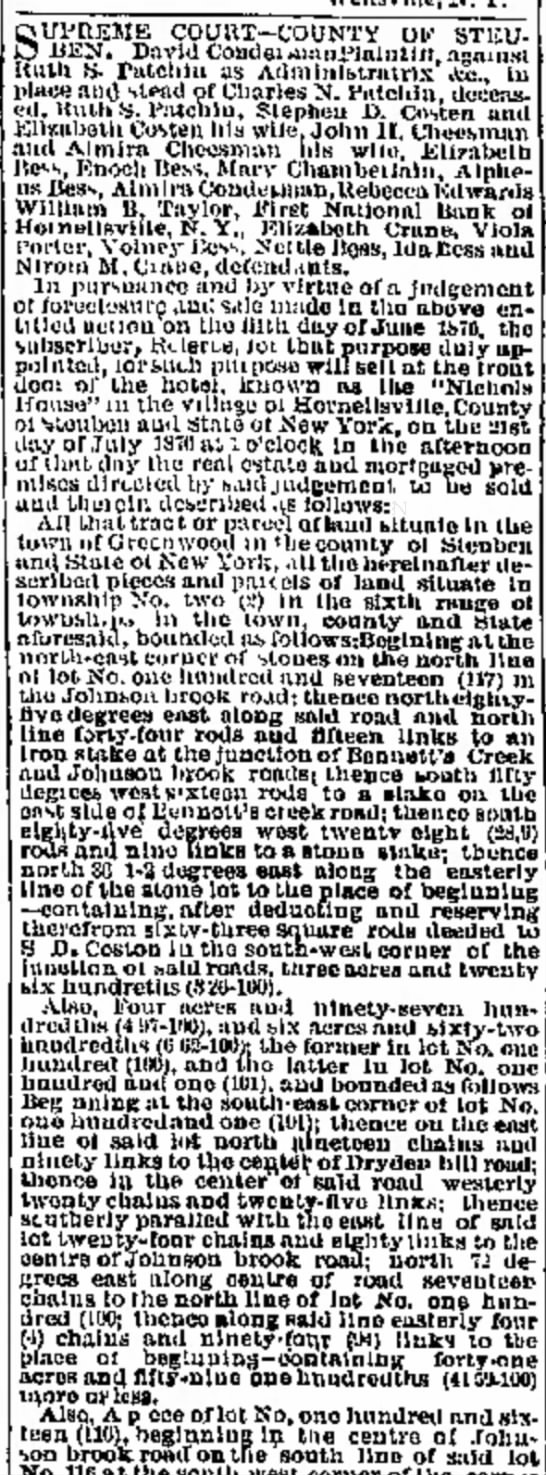 Honrellsville Weekly Tribune