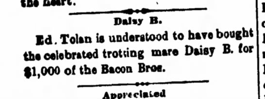 1894 1005 Hornellsville Weekly Tribune p.3 - Dalvy B. Id. Tolan is understood to have the...