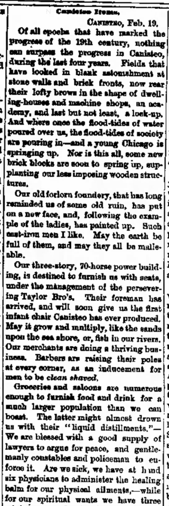 Hornellsville Weekly TribuneHornellsville, NYFriday, February 27, 1874 - wMbrU- in the lower and win in mn gath idl»,...