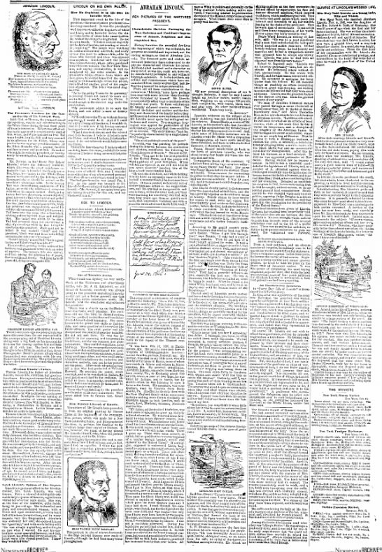 1888 Lincoln article